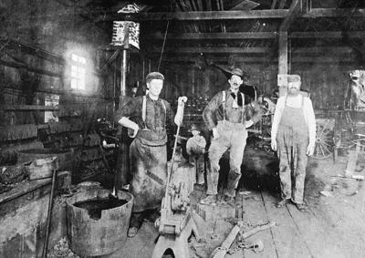 Landry's blacksmith shop