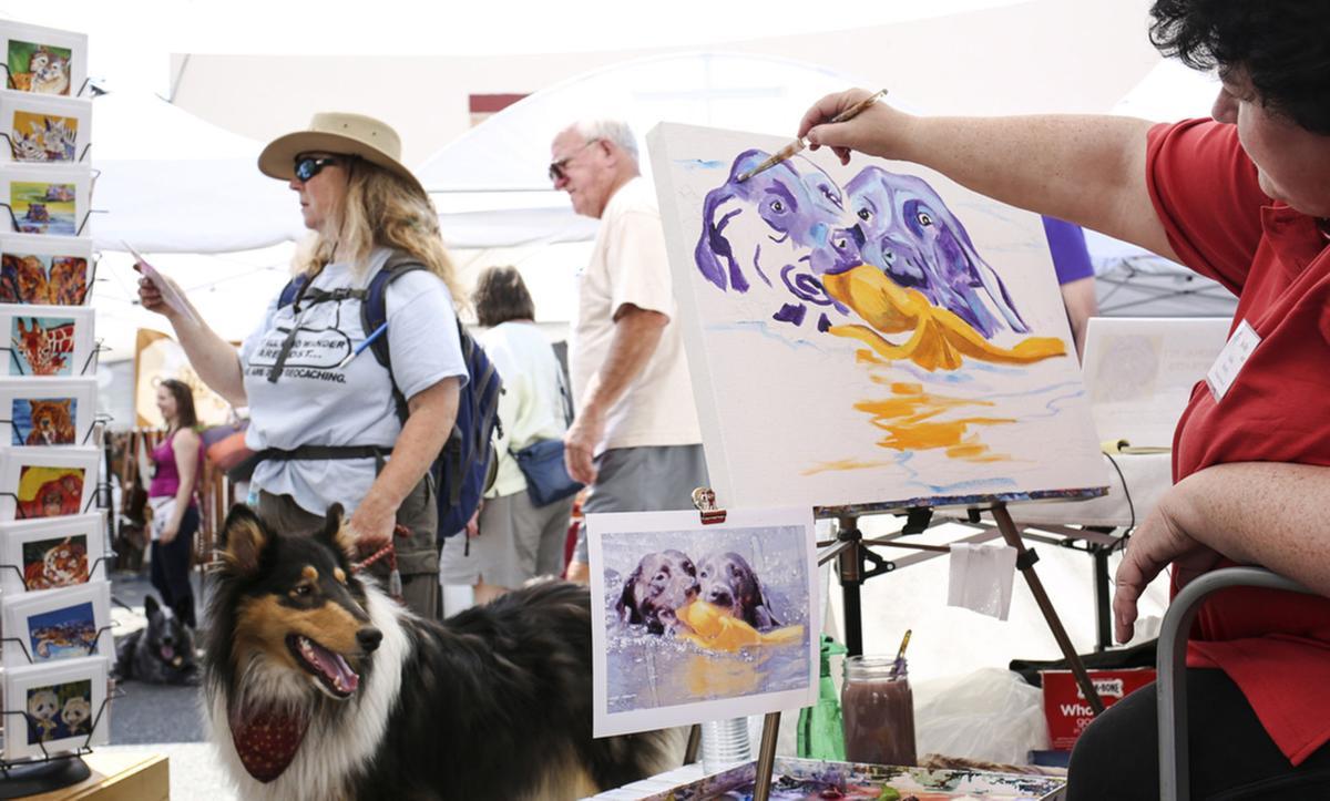 Anacortes Arts Festival painter