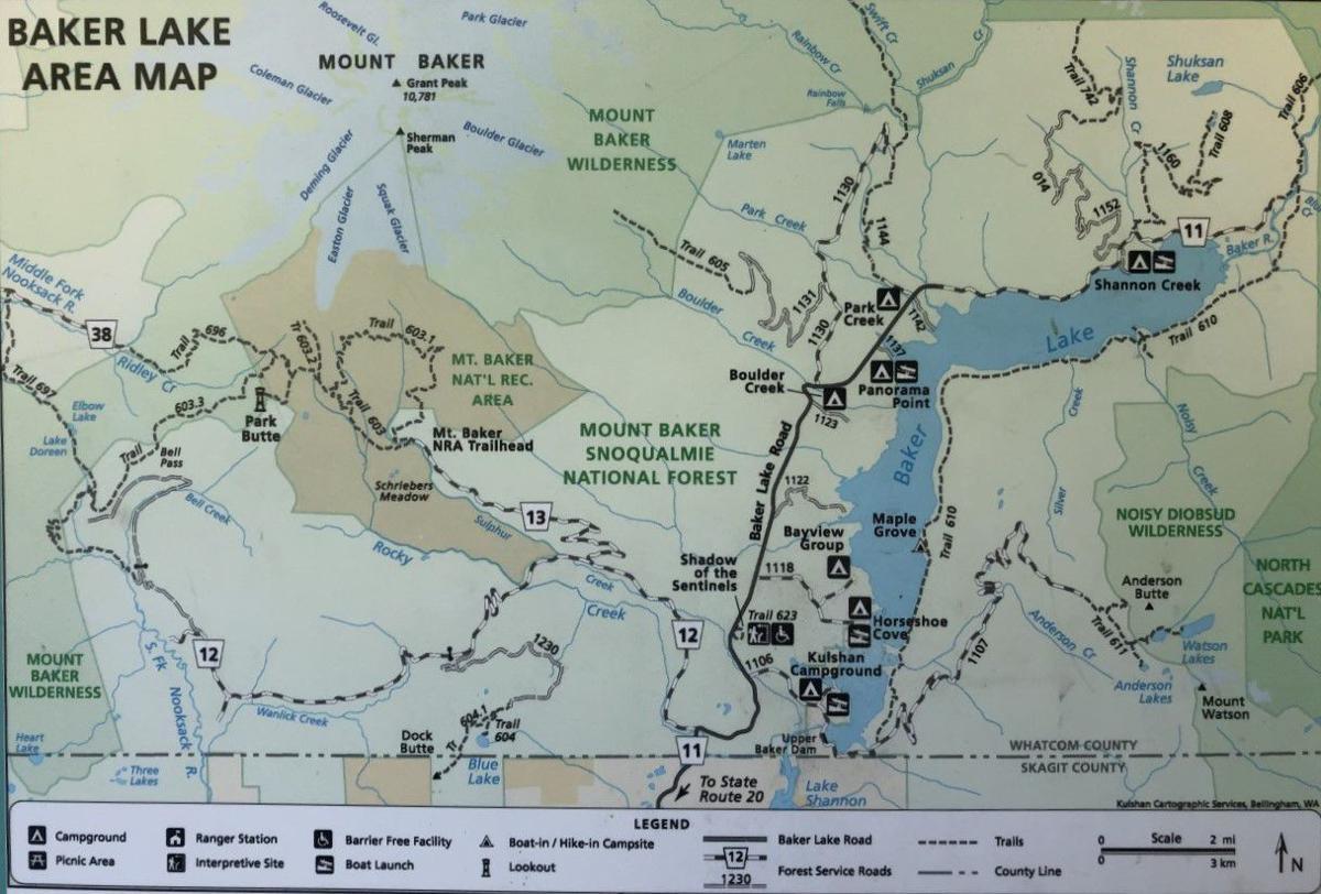 Baker Lake recreation map