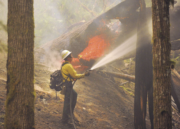 Firefighting efforts continue as wildfire grows near Newhalem