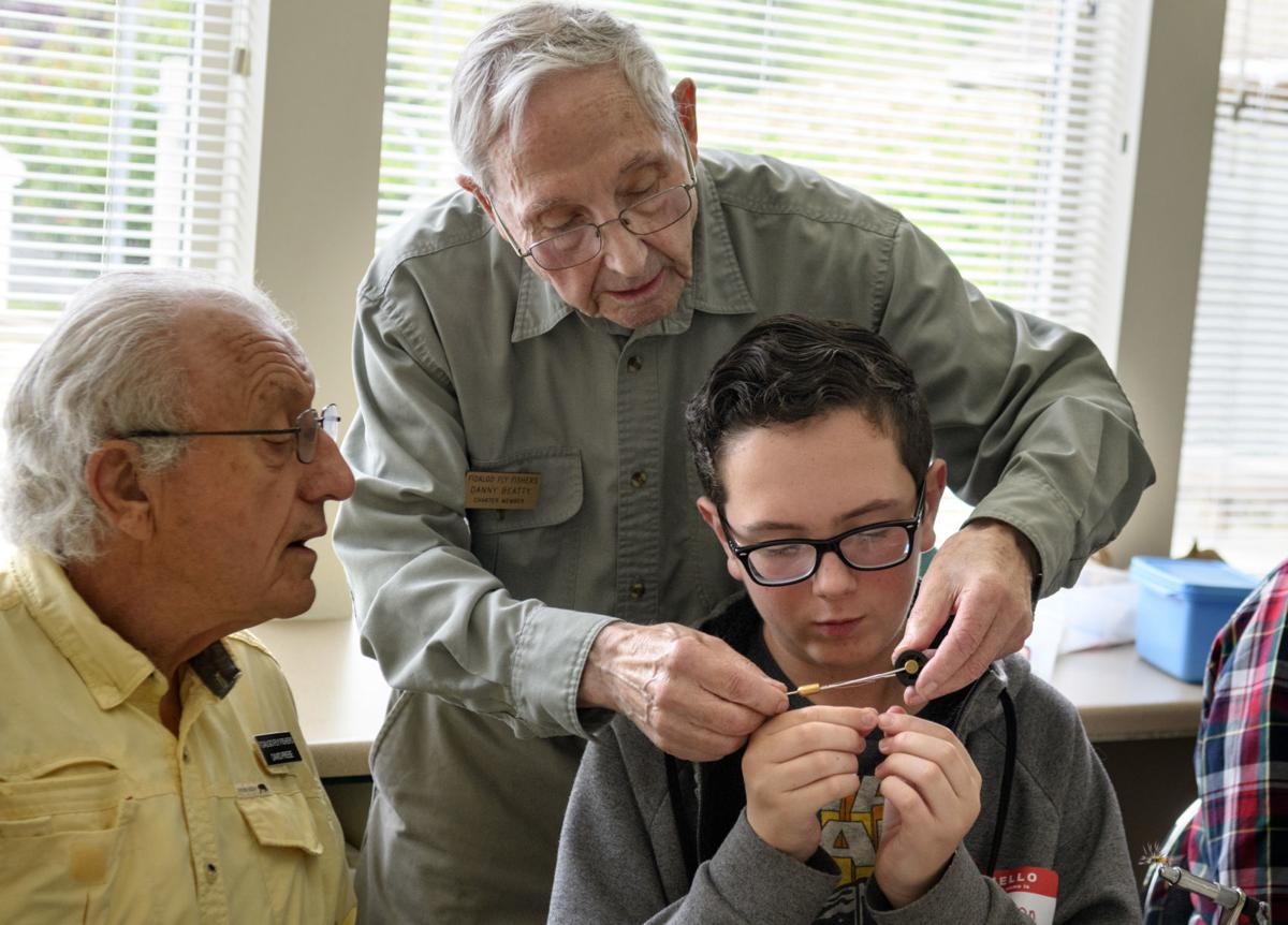Fly fishing class for kids at Anacortes Senior Activities Center