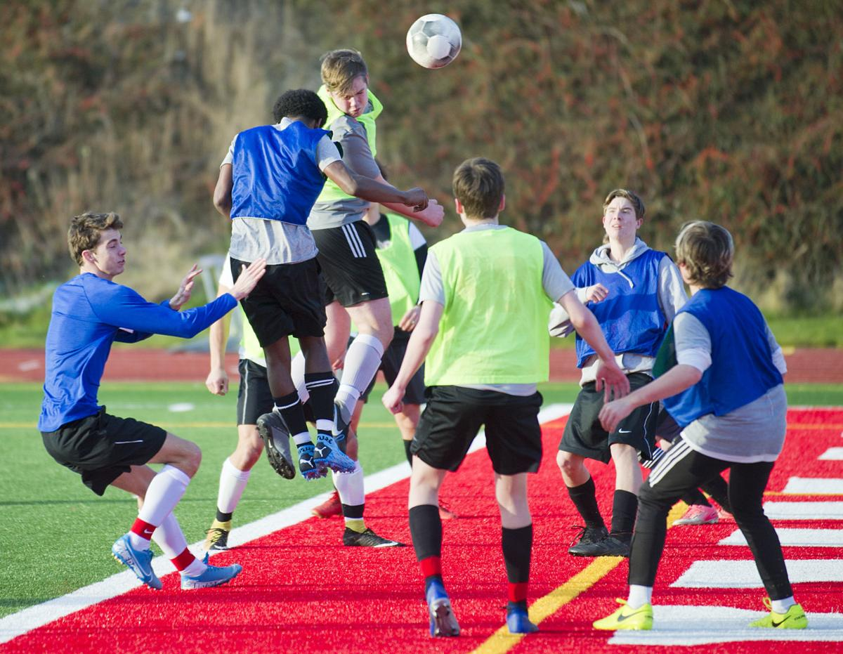 Spring soccer practice, 3.4.20