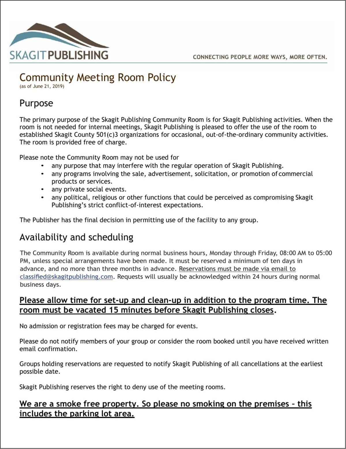 Community Room Policy