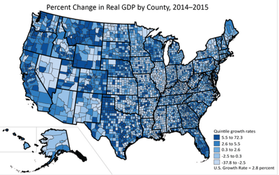GDP by county