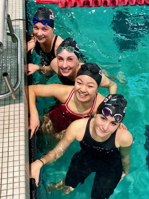 Stanwood swim at district meet, 2018