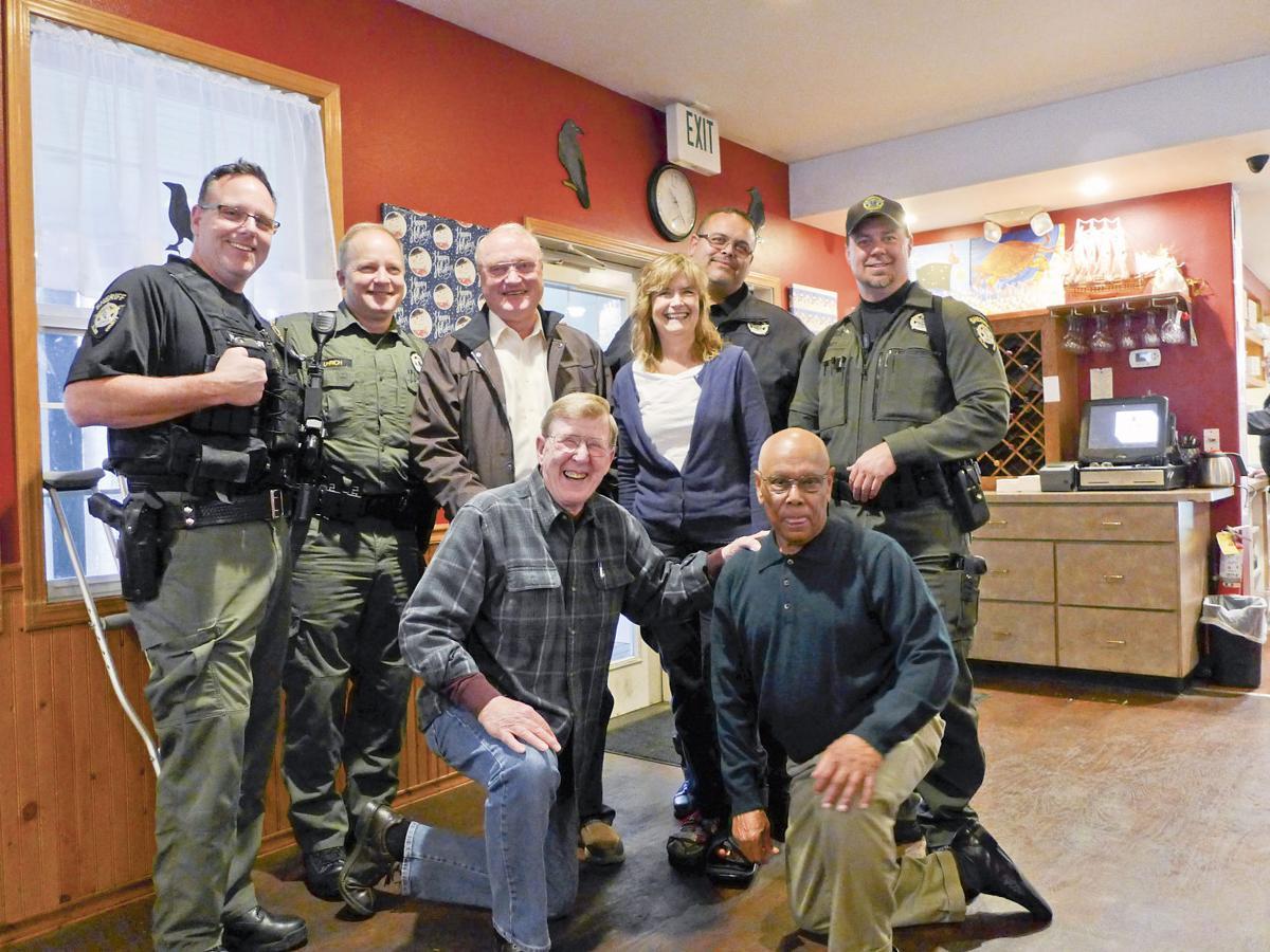 Island County Sheriff Mark Brown hangs up badge