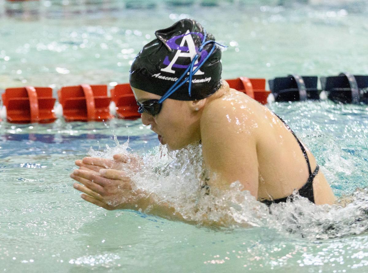 Girls' NWC swimming at Anacortes