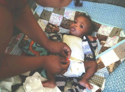 When poor parents can't afford diapers, babies wear dirty