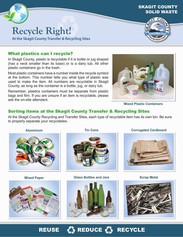 Skagit County recycling fact-sheet