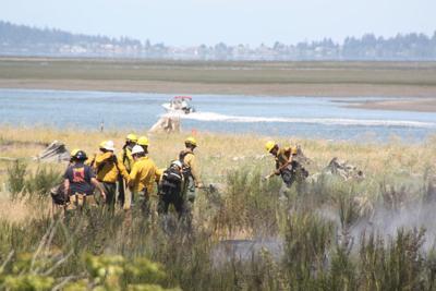Fidalgo Island Grass Fire