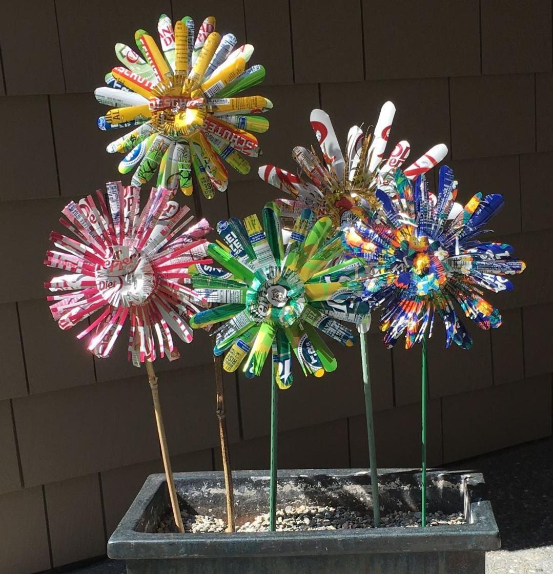 Utsalady upcycled garden art