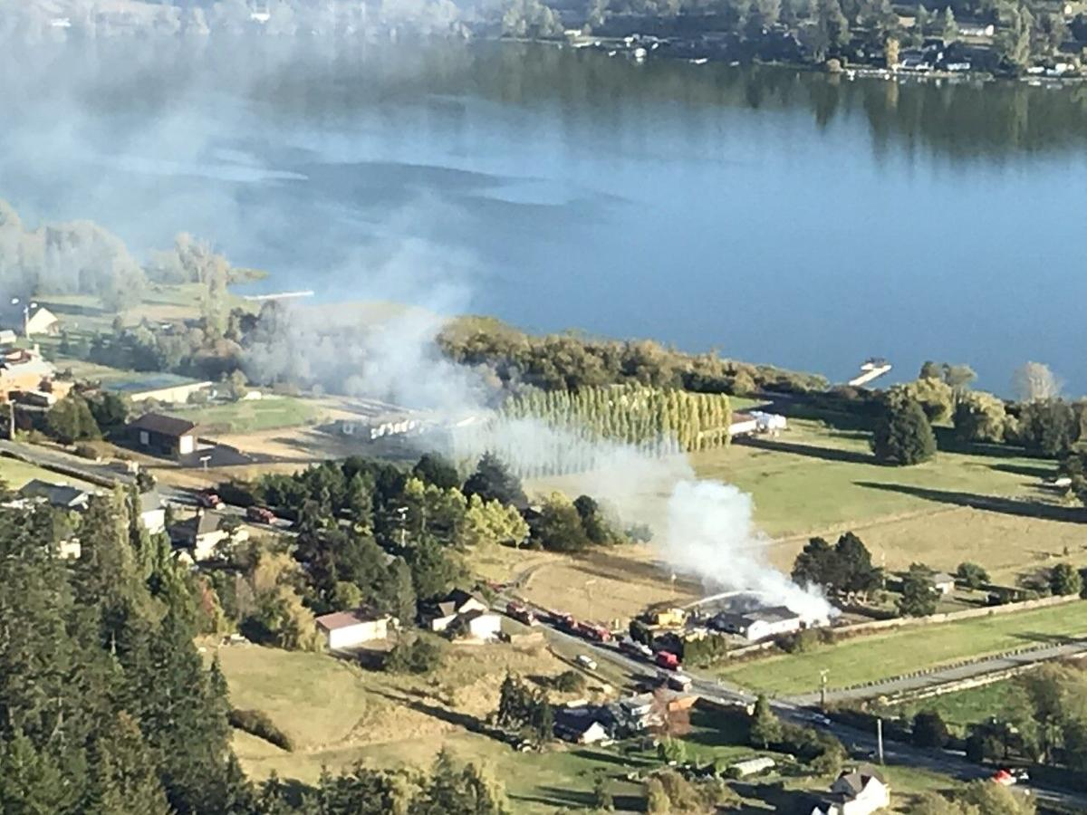 House fire on Campbell Lake Road
