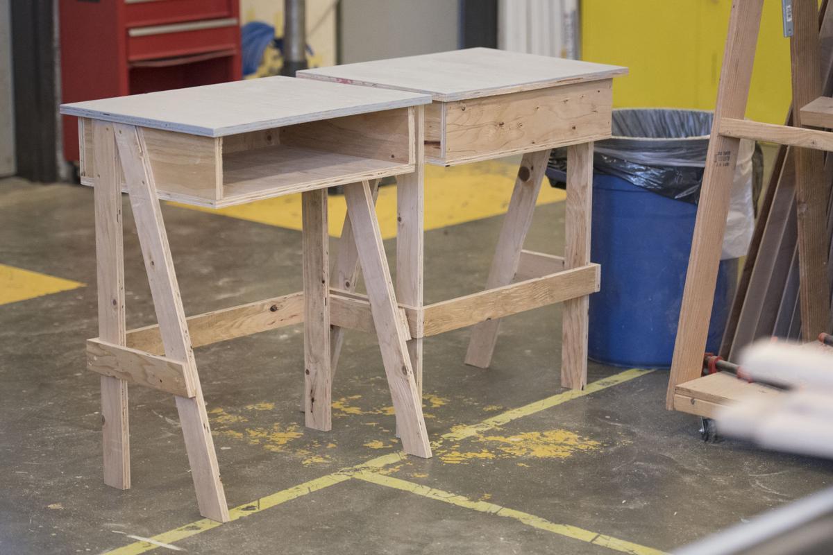 Burlington-Edison Woodshop Desks 02