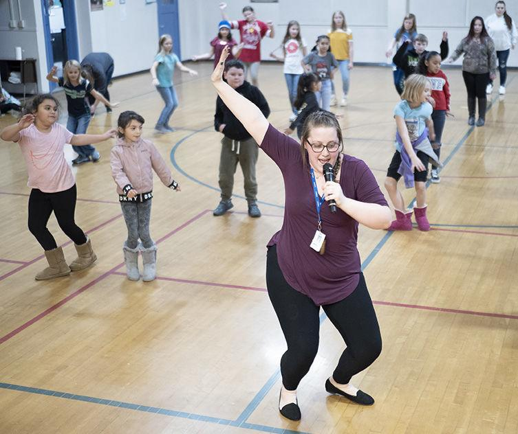Dance class at Mary Purcell