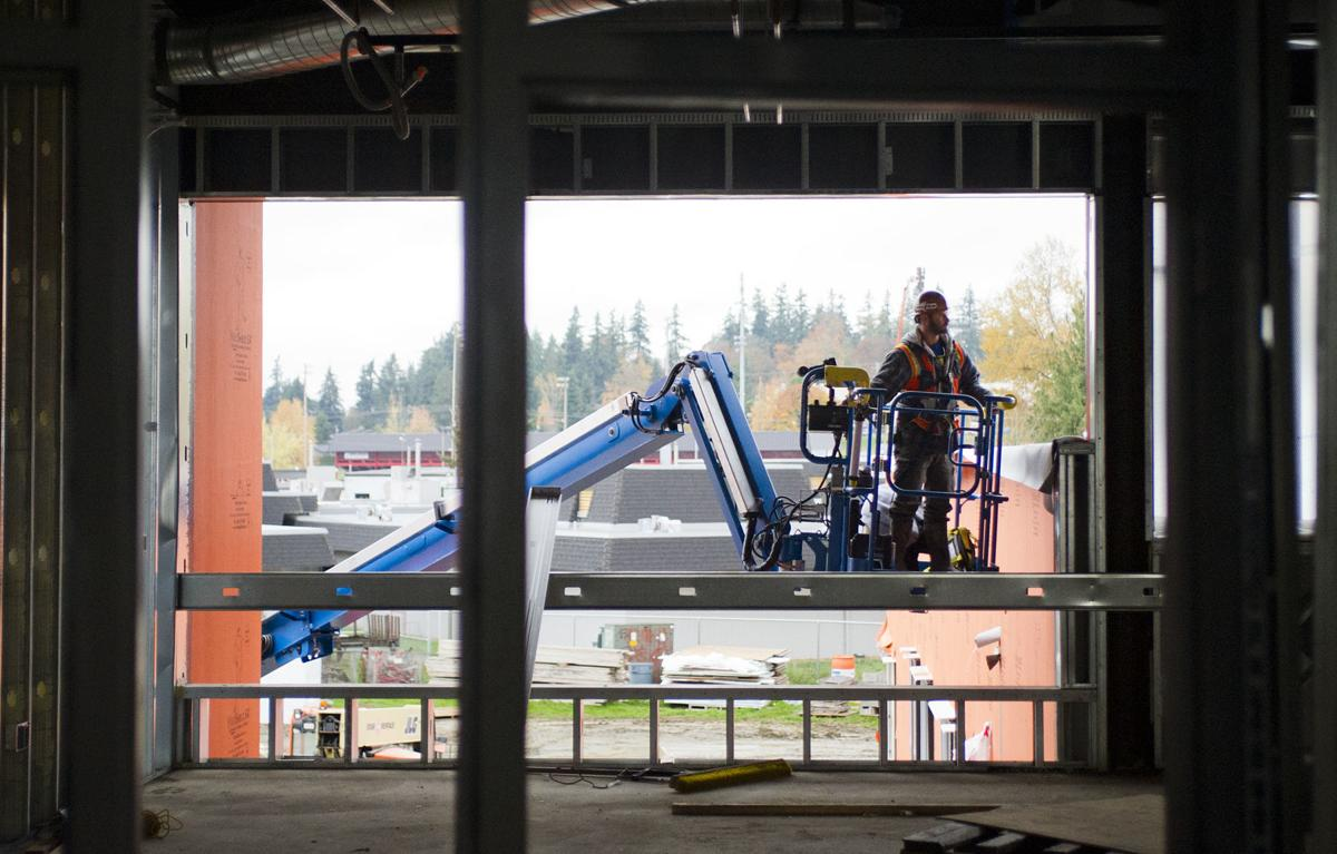 Stanwood High campus construction, 10.25.19