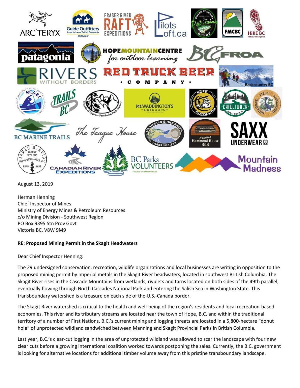 Mining Opposition Letter