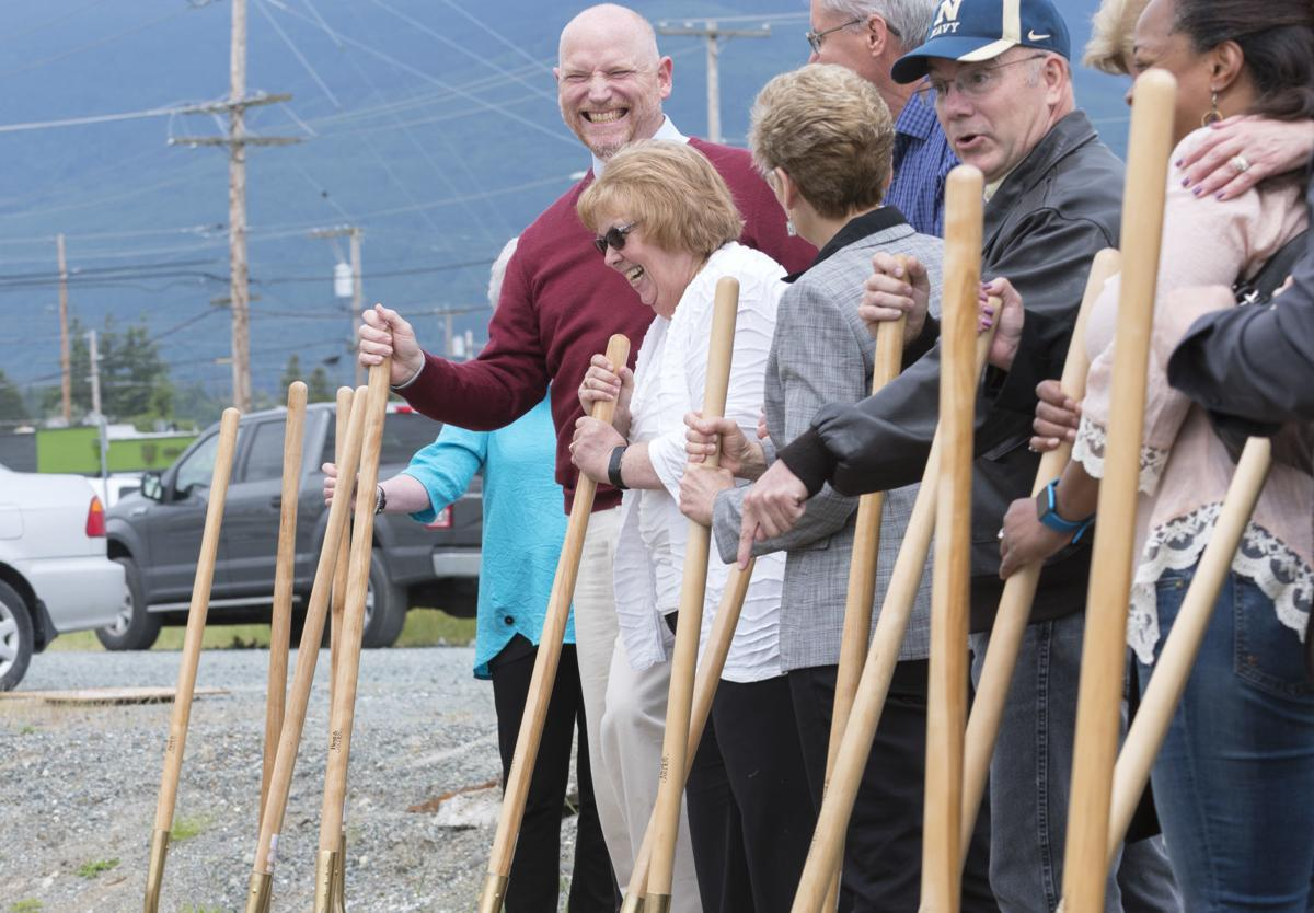 Central Skagit Library ground breaking