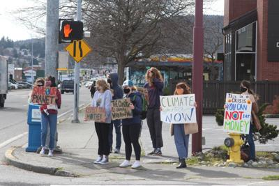 Anacortes students walk out for climate action