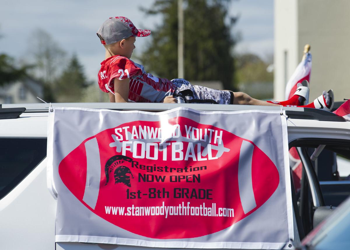 Stanwood Youth Football parade, 4.19.20