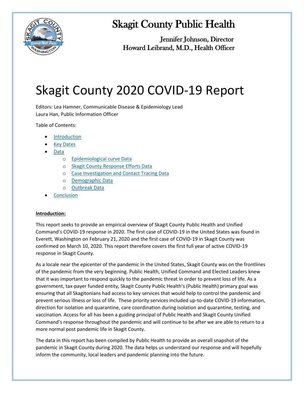 Skagit County COVID-19 Report