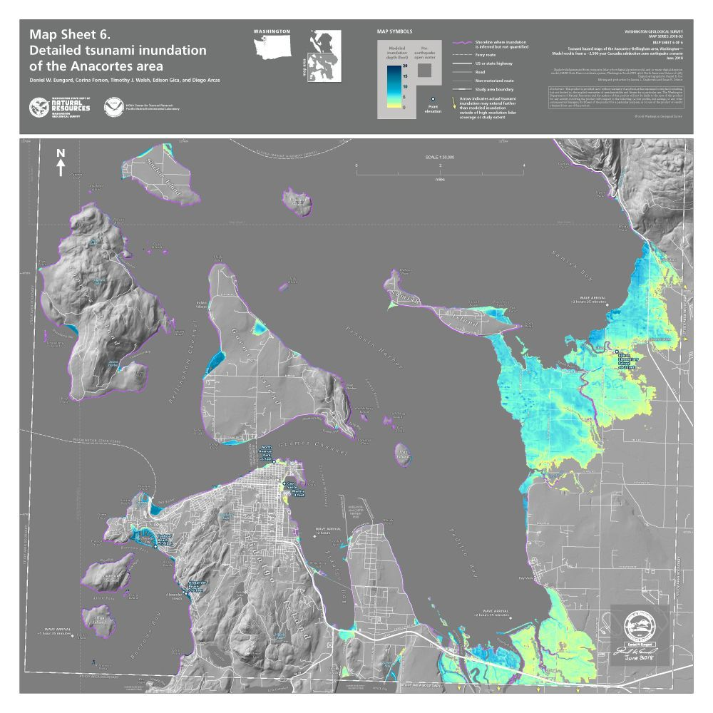 Skagit County tsunami inundation map