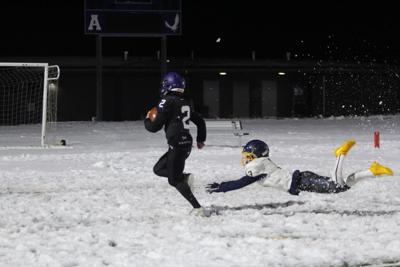 Scrimmage in the Snow - AHS Football