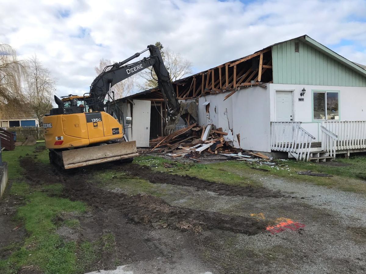 SAHS rental demolished 1