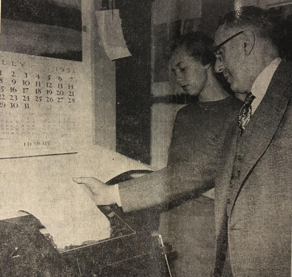 1951 AP Teletype