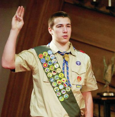 Library Display Case Earns Boy Scout His Eagle Wings