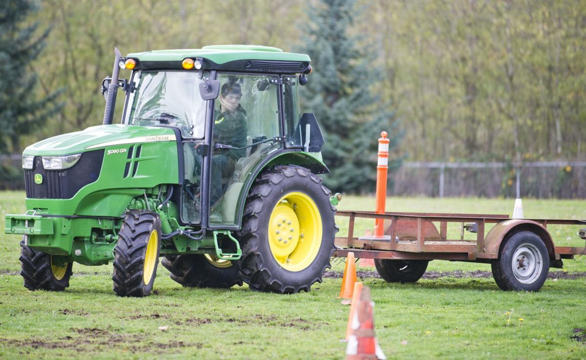 FFA tractor driving practice