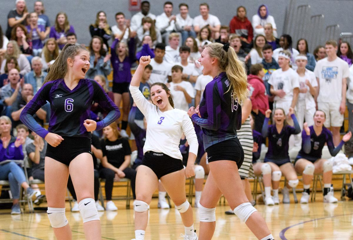 Coupeville at Anacortes volleyball