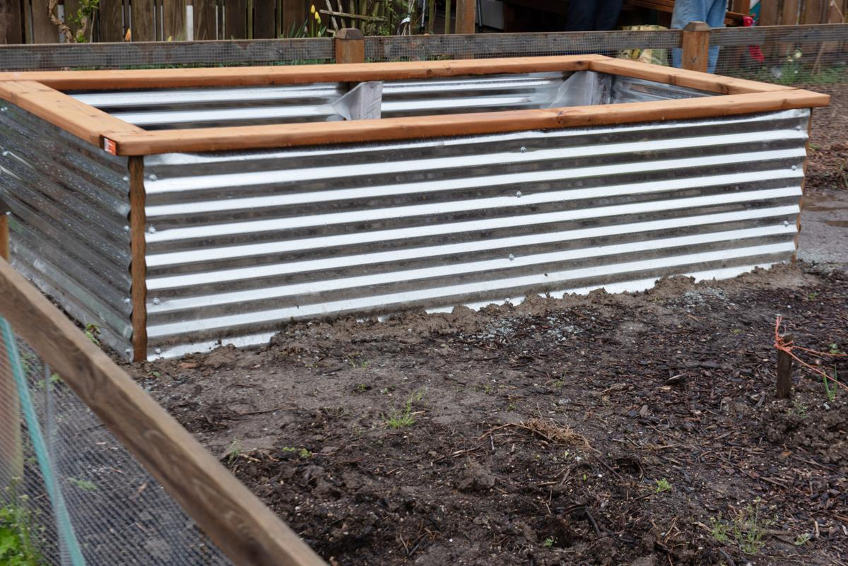 A completed raised bed