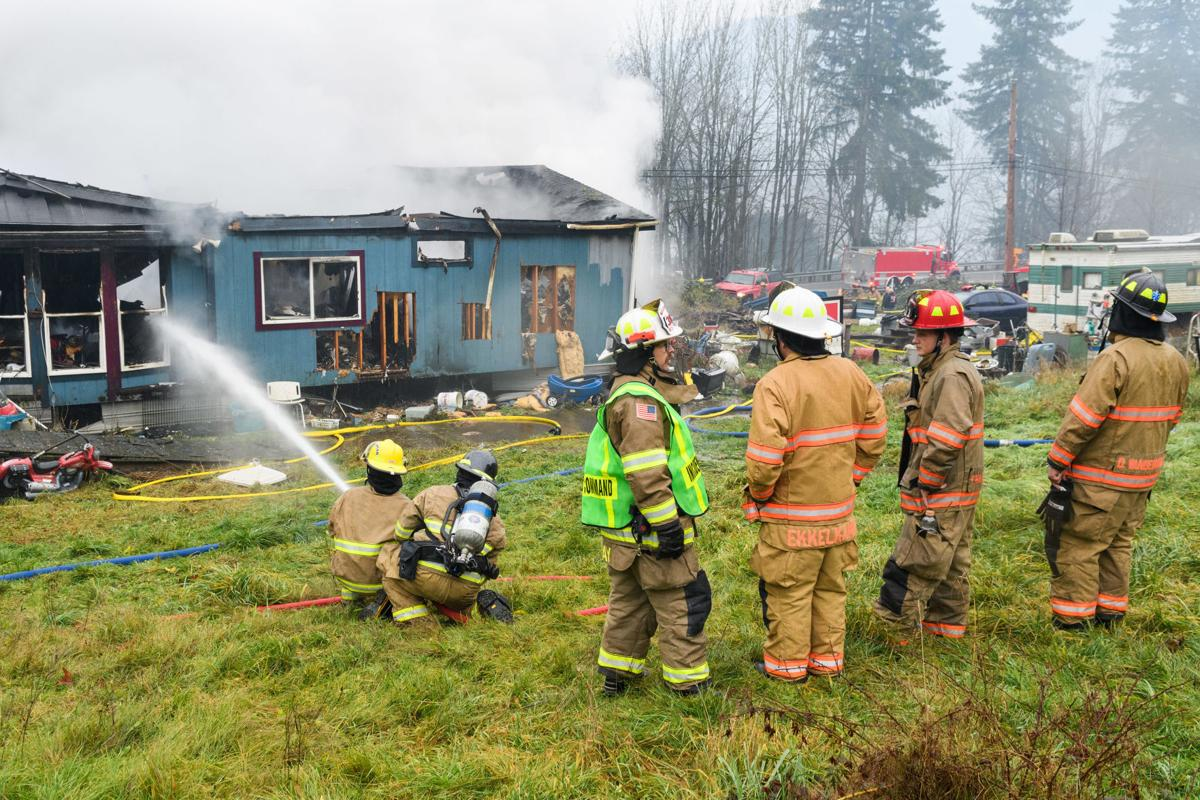 House fire near Lake McMurray