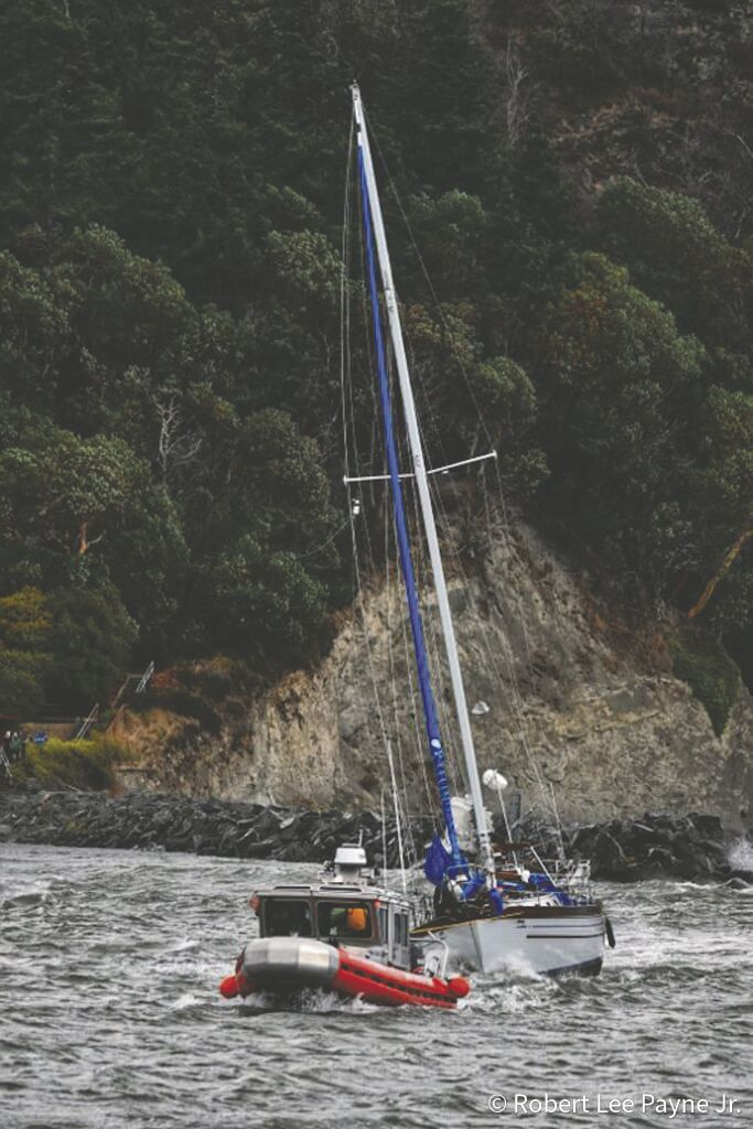 Sailboat rescue