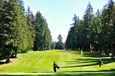 Boys Golf: Oak Harbor and Shorewood at Stanwood, 5.7.18
