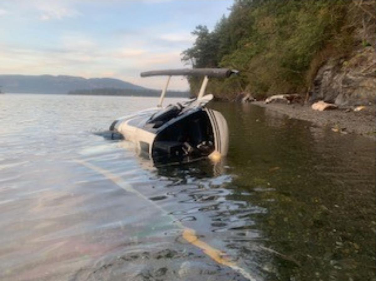 Helicopter accident photo