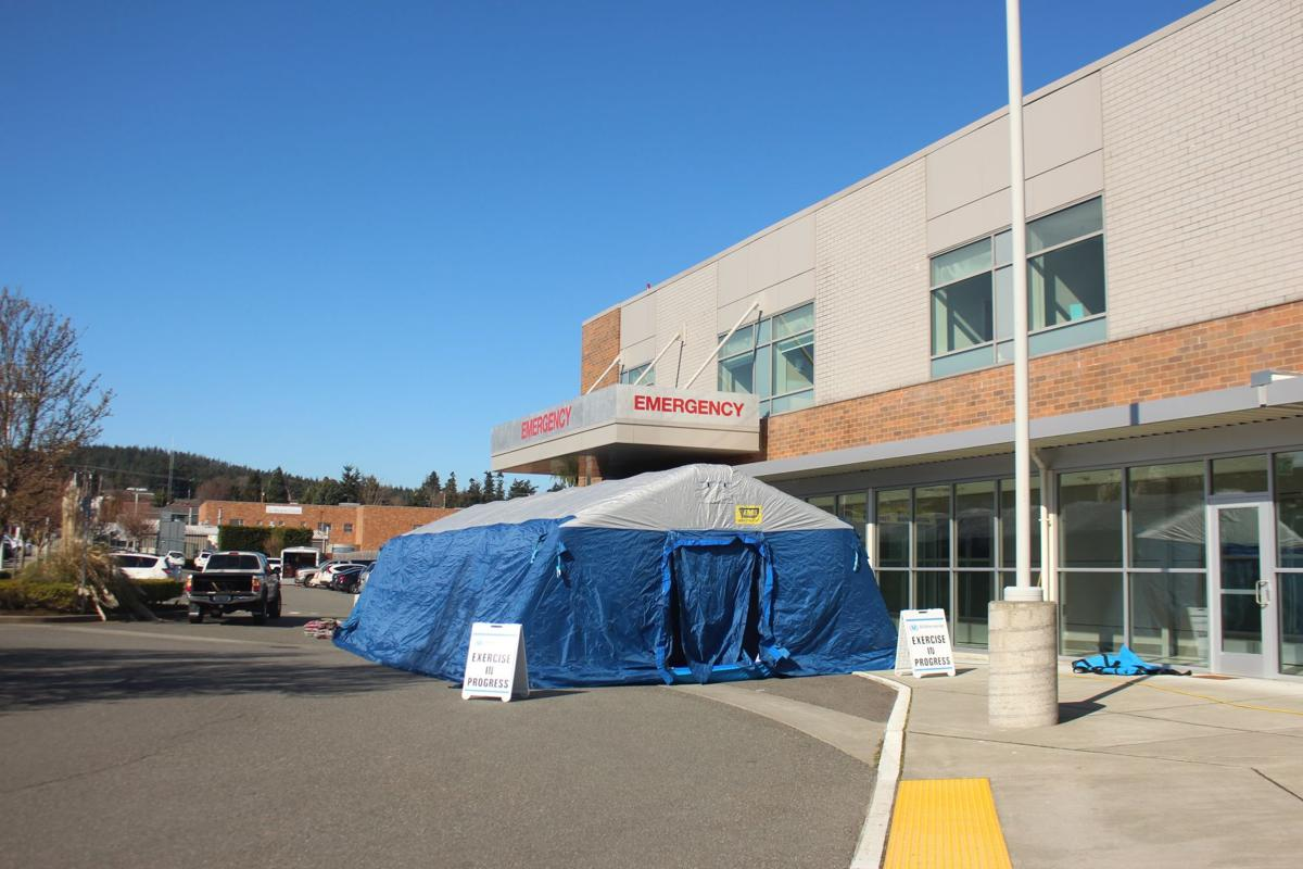 Island Hospital erects tent outside Emergency Department