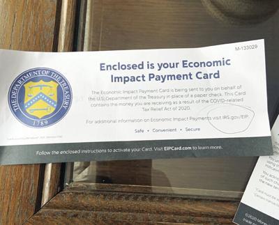 Stimulus payments on plastic