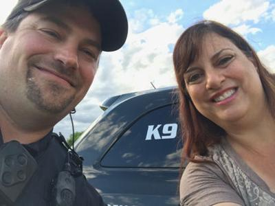 Officer Gary O'Brien and  Wendy Uzelac