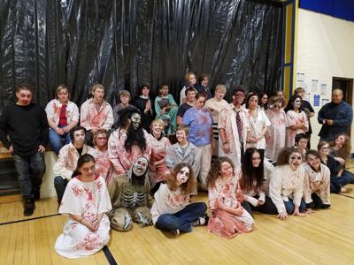 Northern Lights students create a Halloween Fright at Warba school
