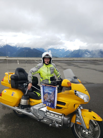 Cathy Davies at Hurricane Ridge - Olympic Peninsula, Wash.
