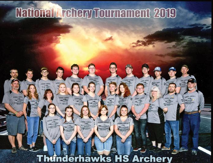 High school archery team