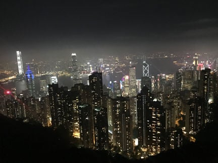 View from Victoria's Peak in Hong Kong