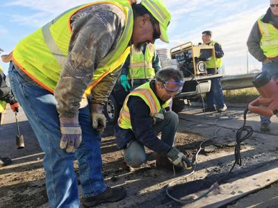 Material derived from mining is tested on Minnesota roads