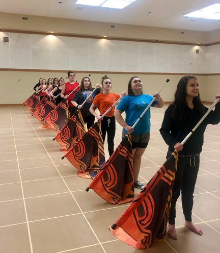 GRHS competes for the first time as winter color guard