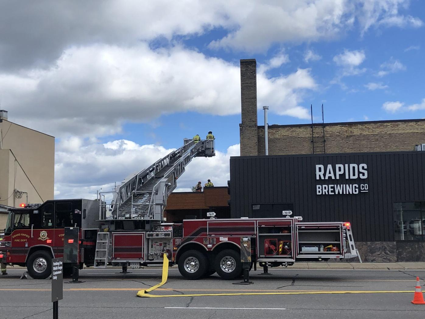 Fire at Rapids Brewing