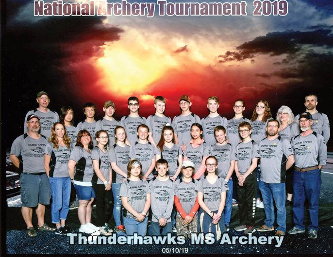 Middle school archery team