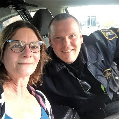 Riding along with: Sgt. Kevin Ott and Laurie Turman