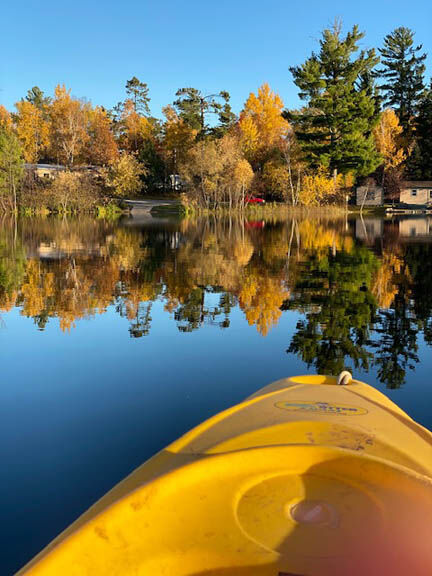 Crooked Lake from the kayak Mary Shideler