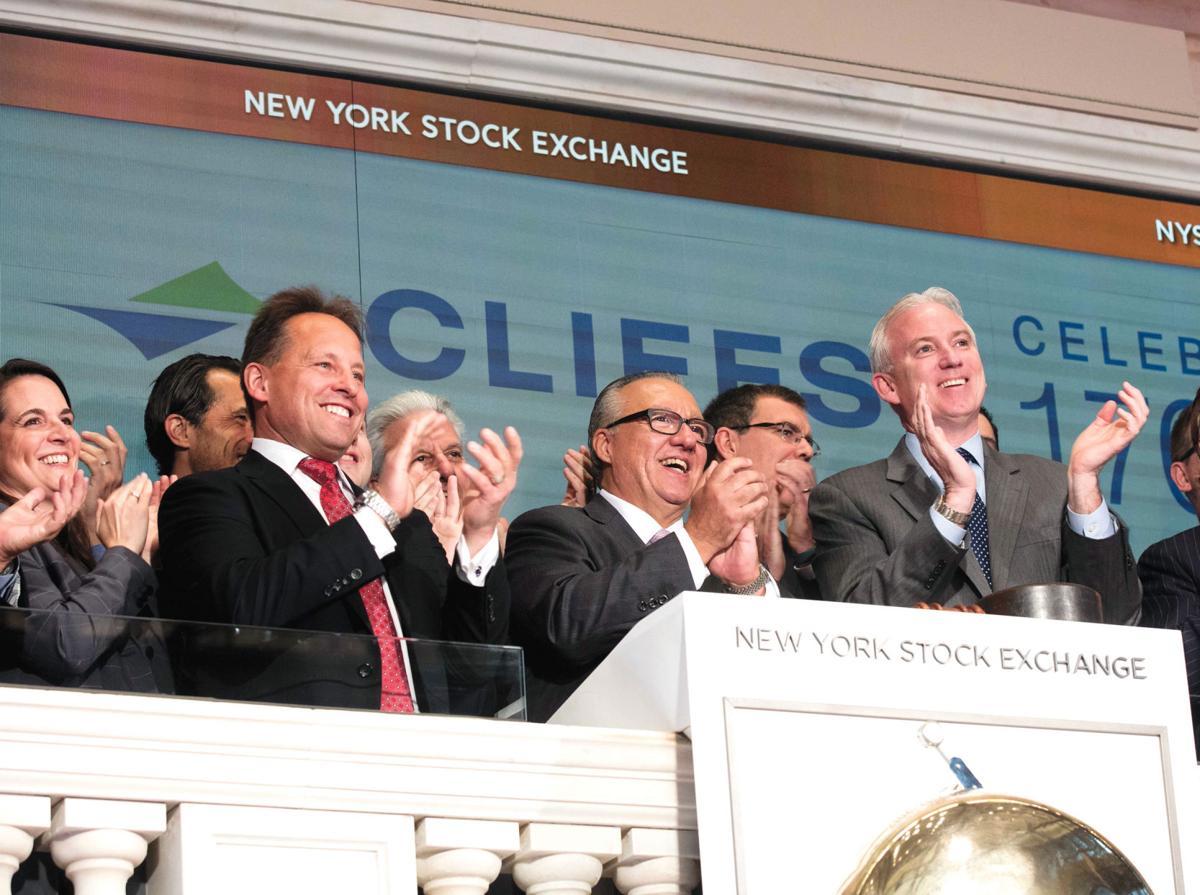 L Goncalves NYSE Bell Ringing Podium_CLF 2017.jpg